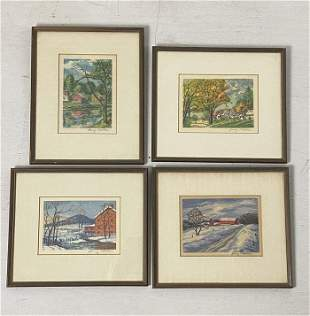 Group of 4 Signed Harry Shokler Prints