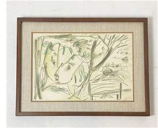 Signed Yehuda Bacon Lithograph
