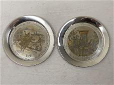 2 Danbury Mint Sterling Silver Collector's Plates