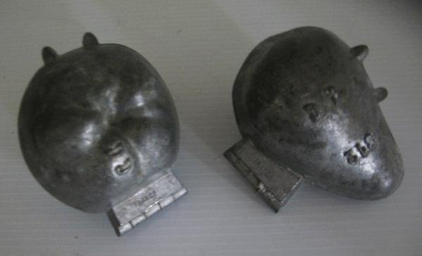 179: 5 Antique French Signed Pewter Ice Cream Molds - 3