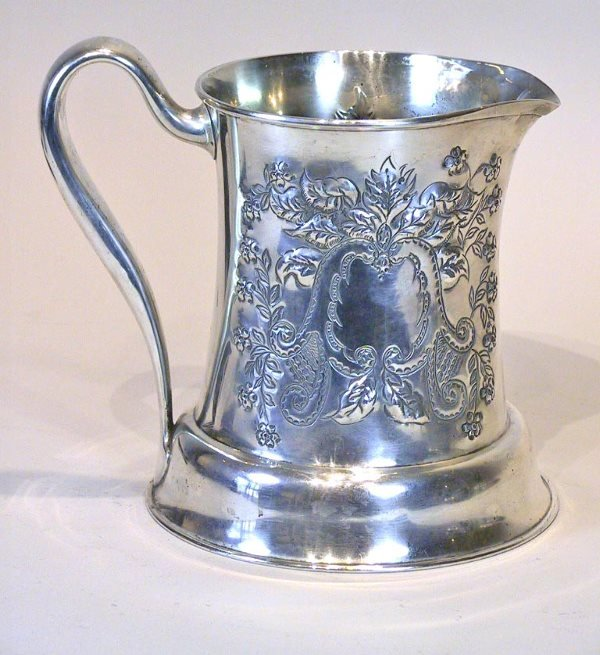7: Sterling Silver Embossed Towle Pitcher