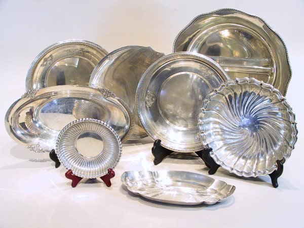 11: 20th Century Sterling Silver Tray Lot