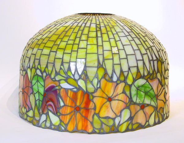 12: John Mowbry Leaded Stained Glass Lamp Shade