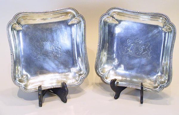 13: 18th Century  Sterling Silver  English Trays