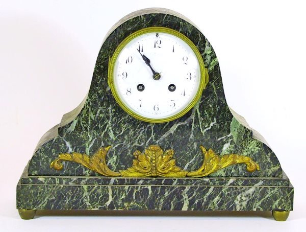 212: Marble and Bronze Mantle Clock