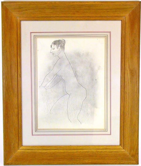277: Pencil and Ink study signed Milton Avery