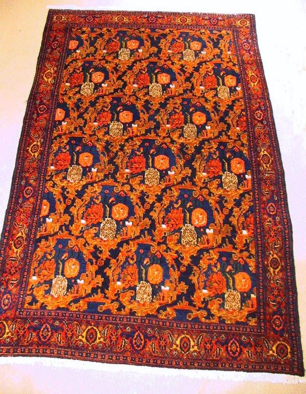 1: Circa 1940's Antique Senna Oriental Carpet / Rug