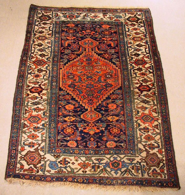 5: Circa 1930's Estate Kurd Bidjar Oriental Carpet / Ru