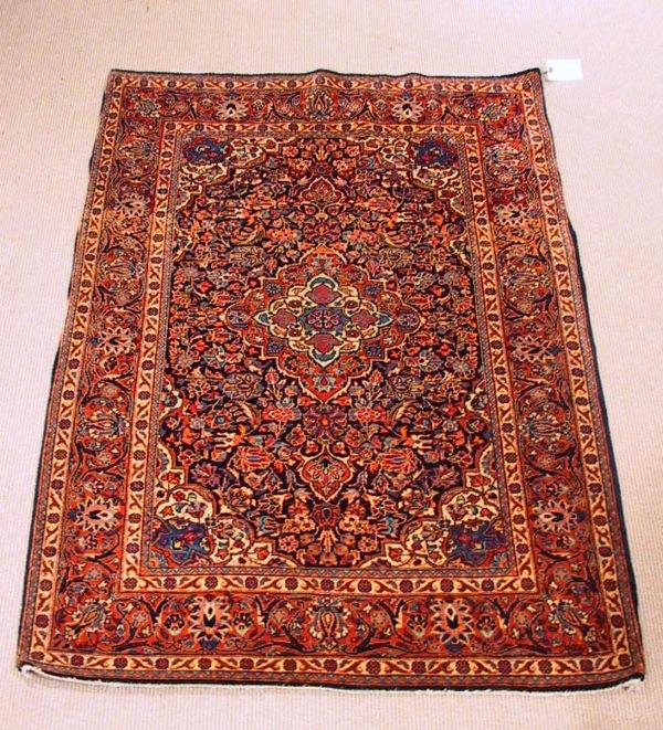 12: Circa 1930's Antique Kashan Oriental Carpet / Rug