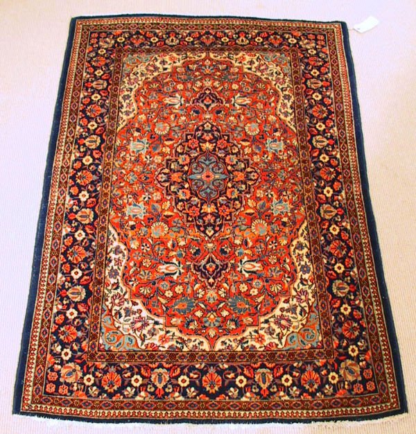 15: 1930's Antique Kashan Oriental Carpet / Rug