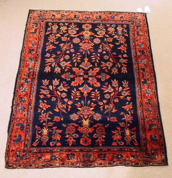 21: Circa 1930's Antique Sarouk oriental Carpet / Rug