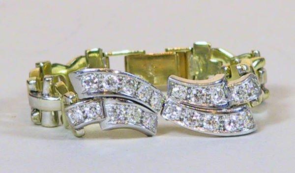 22: Platinum and 14k Gold and Diamond Bracelet