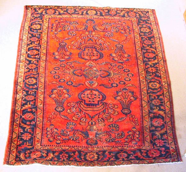 24: Circa 1940's Antique Lilihan Oriental Carpet / Rug
