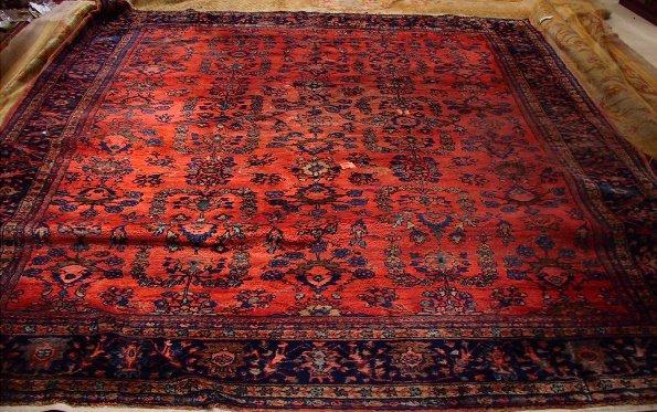 52: Circa 1930's Antique Lilihan Oriental Carpet / Rug