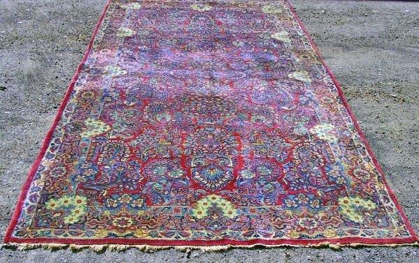 68: Circa 1940's Antique Sarouk Oriental Carpet / Rug