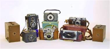 182 8 Vintage Cameras  Acces Kodak Canon Voigtlander