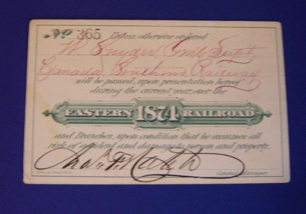 7: Eastern Railroad Pass 1874
