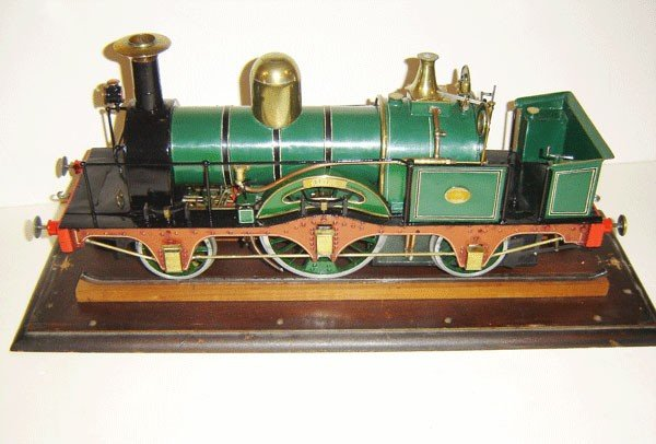 59: 19th C Wide Gauge Live Steam British Locomotive