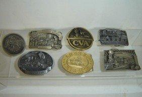 Lot Of  Five  Vintage Railroad Buckles
