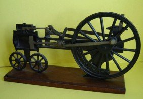 Large Vintage Knott Cutaway Steam Engine