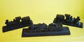 3 Cast Iron Loco. Paperweight's Twining Models Ltd