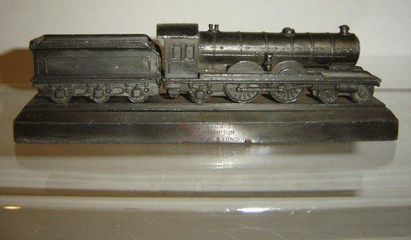 145: 3 Vintage Cast Iron Locomotive Paperweights