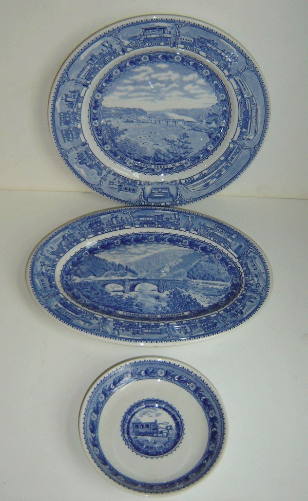 150: 3 Pieces  R.R. China  Baltimore & Ohio LaiSheango