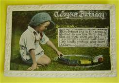 153: 7 Charming Vintage Railroad Postcards Children