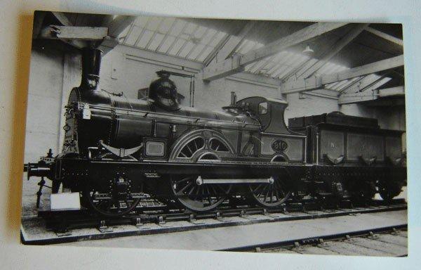 157: 7 Vintage postcards  Locomotives In shops British
