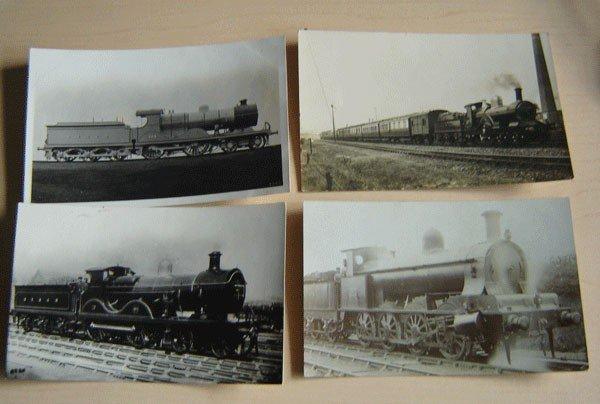 158:15 Vintage Mostly English Locomotive Postcards