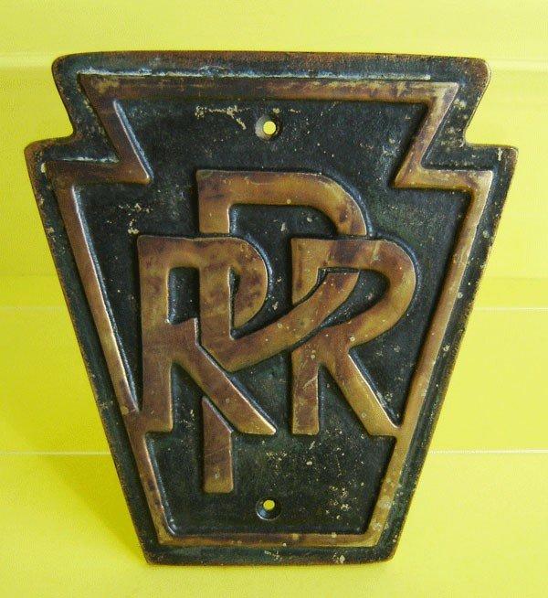 83: Vintage Bronze Pennsylvania Railroad Plaque