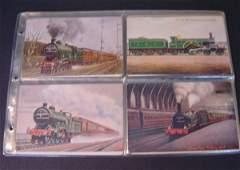 3: 48 Vintage Railroad Station & Locomotive Postcards