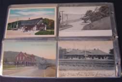 8: 39 Vintage Railroad Station Postcards