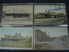 9 79 Vintage Railroad Station Postcards