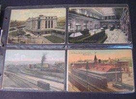 11: 76  Vintage Railroad Station Postcards