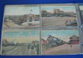 13: 40  Vintage  R.R. Stations Postcards