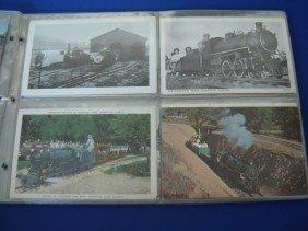 18: 76 Vintage Miniature Train Postcards