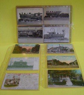 7: 39 Vintage R.R. Station Postcards