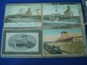 12: 47 Vintage Train Station Postcards
