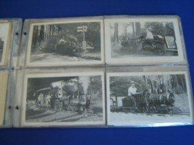 19: 71 Vintage Miniature Train Postcards