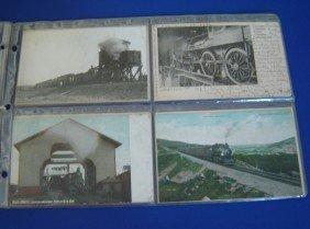 22: 40 Vintage Logging & Locomotives & People Postcards