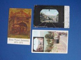 15: 3 Vintage HOOSAC TUNNEL Postcards
