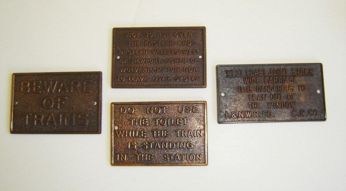 86: 4 Miniature Bronze Plaques