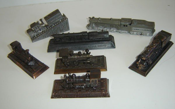 87: Lot Of Vintage Railroad Paperweight's