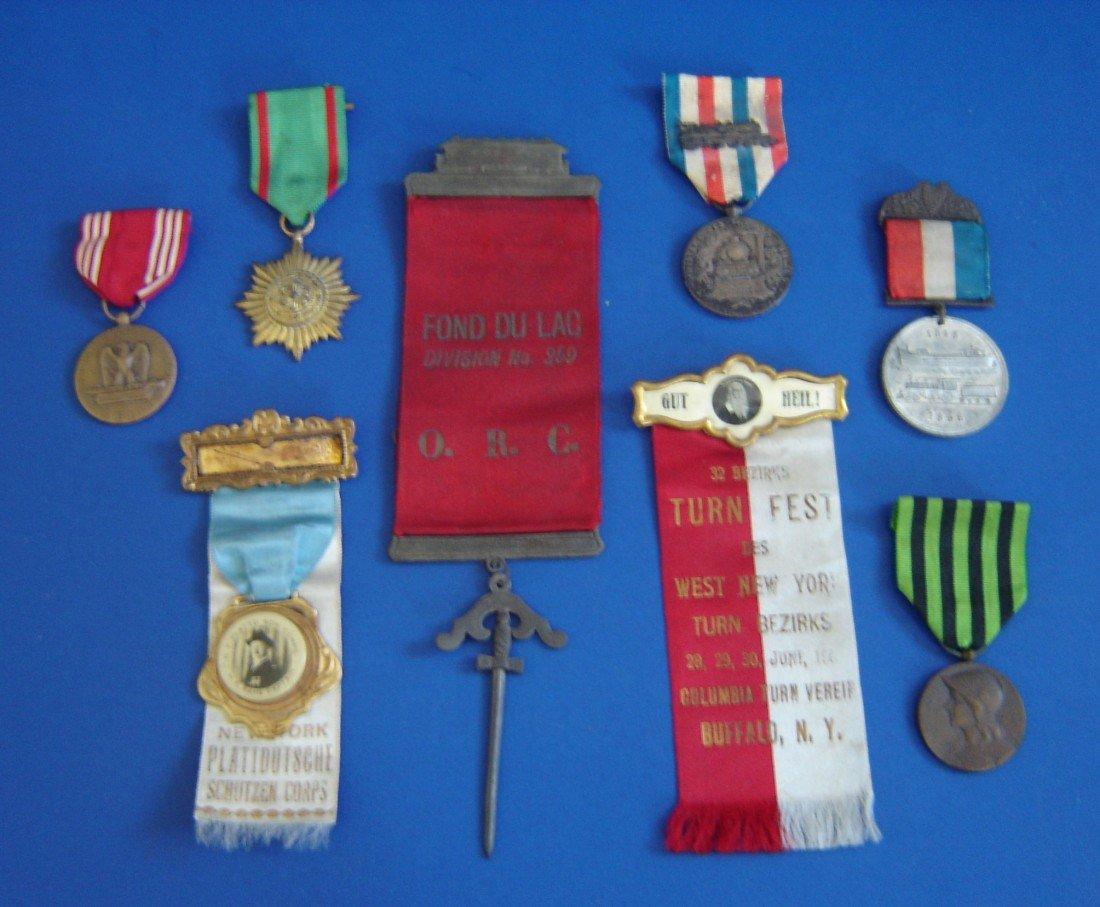 68: 8 Vintage Medals