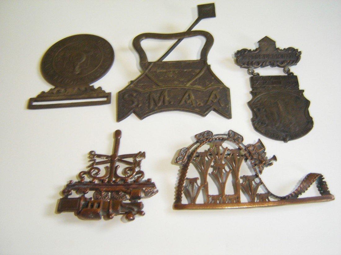 75: 5 Antique Railroad Pins