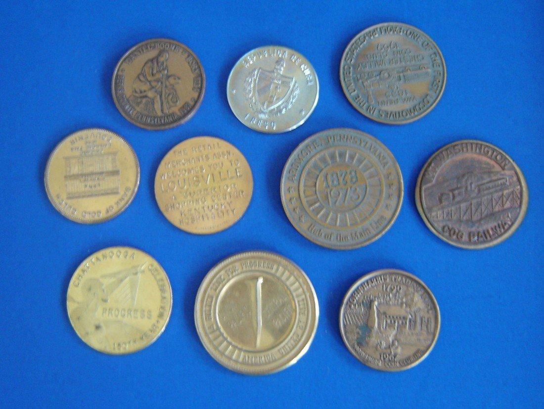 58: 18 Antique Railroad Coins