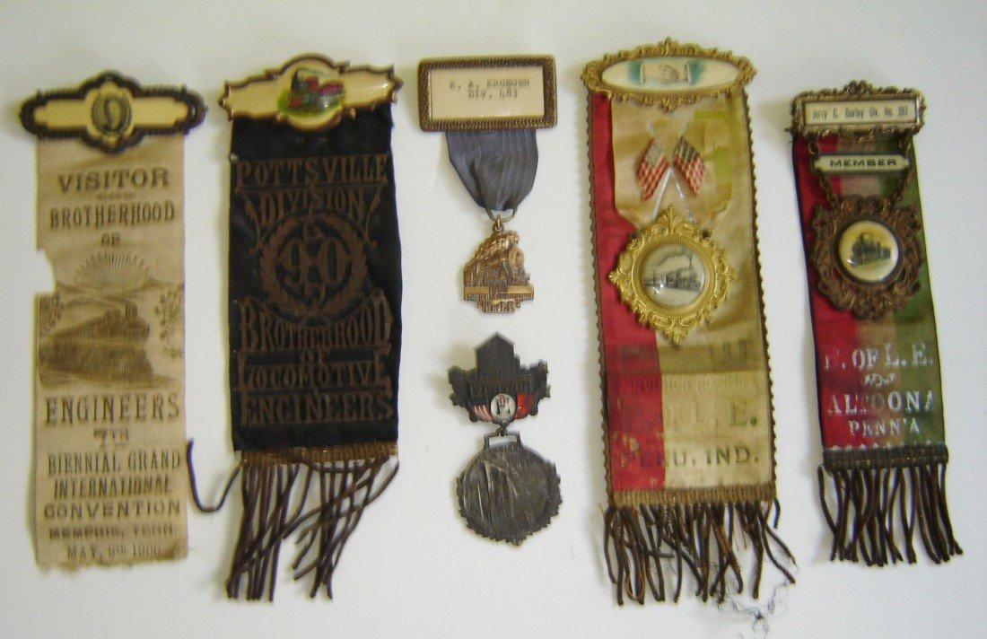 69: 6 Antique Railroad Medals