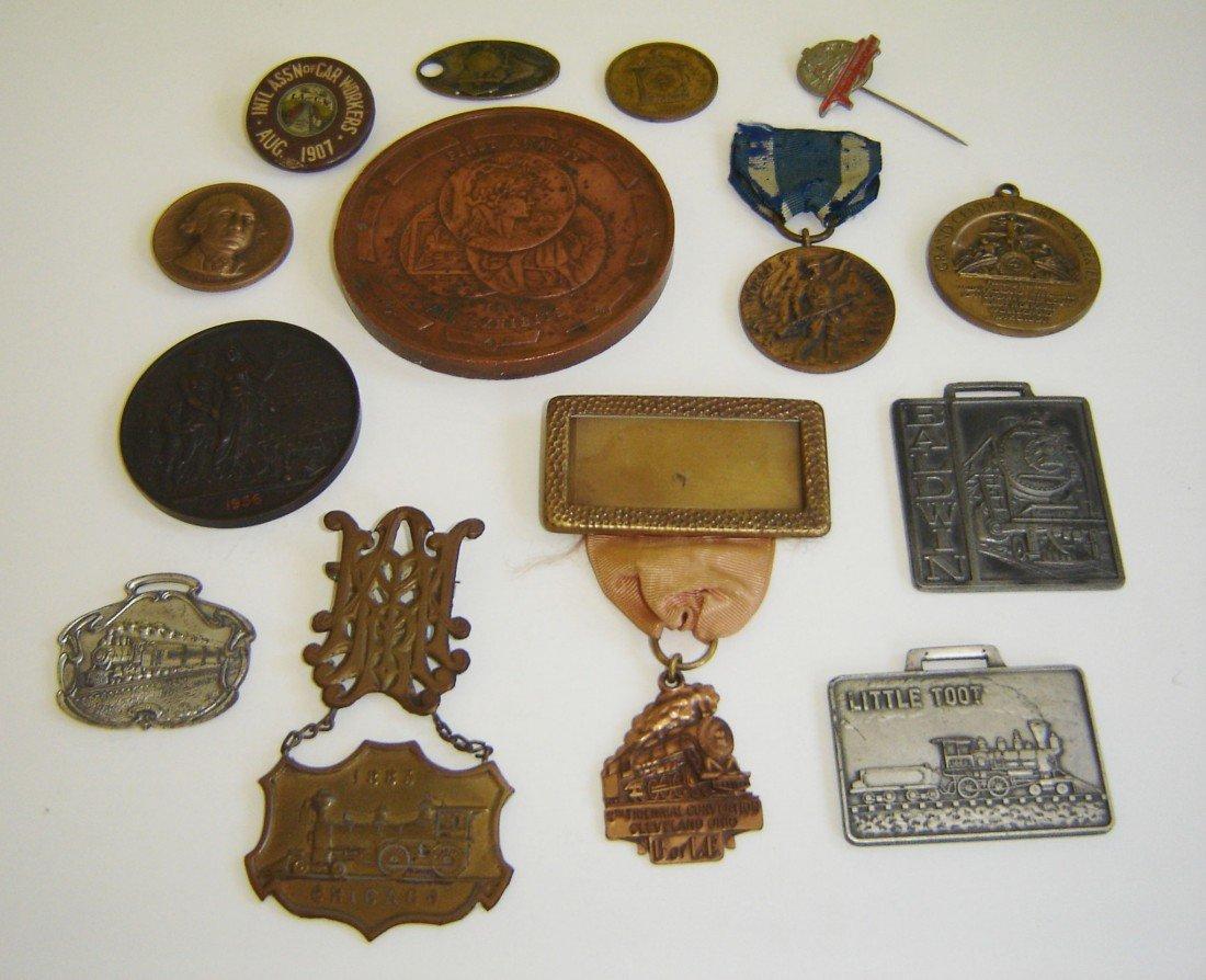 63: 14 Antique Medals