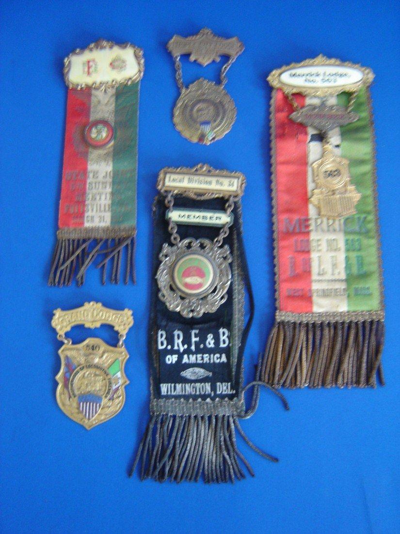 66: 5 Antique Award Medals